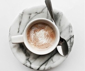 coffee, marble, and drink image