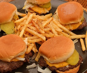 food, yum, and fries image