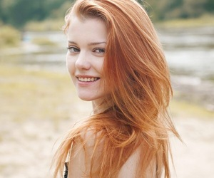 pale skin, pretty girl, and strawberry blonde hair image