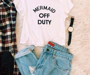 fashion, mermaid, and outfit image