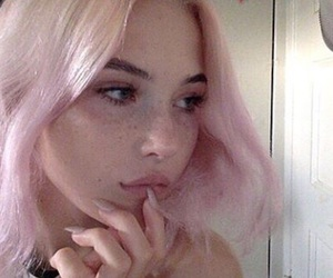 anime, pink hair, and pink aesthetic image