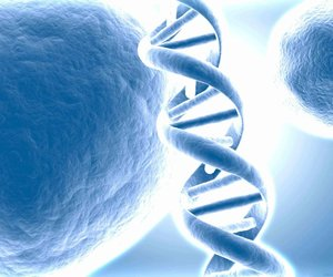 aesthetic, blue, and DNA image