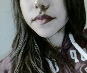 blackandwhite, drawing, and girl image