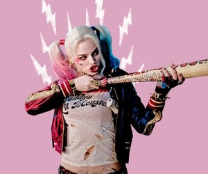 suicide squad, harley quinn, and pink image