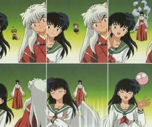 inuyasha, kagome, and kikyo image