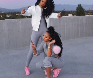 pink, friends, and goals image