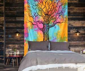 home decor, wall decor, and tree of life tapestry image