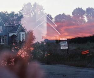 grunge, sunset, and photography image