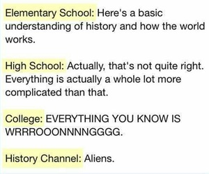 aliens, college, and funny image