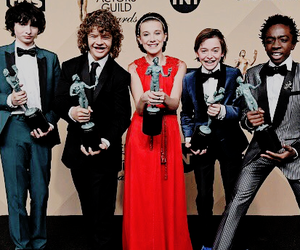 cast, serie, and stranger things image
