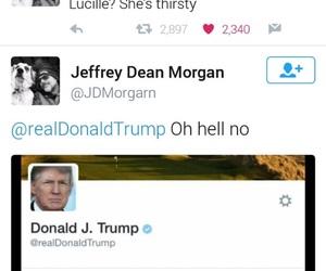jeffrey dean morgan, trump, and negan image