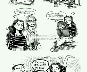 funny, comic, and drawing image