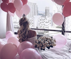 hair, luxury, and pink image