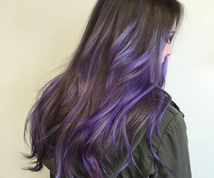 hair, style, and purple image