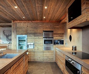 home, kitchen, and wood image