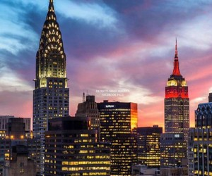 america, chrysler building, and empire state building image