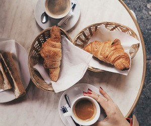 breakfast, coffee, and french image