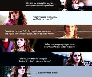 harry potter, hermione granger, and quote image