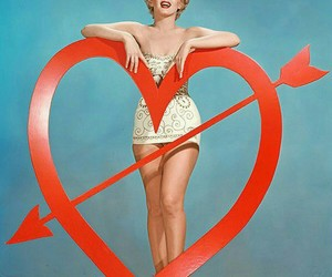 Marilyn Monroe, heart, and valentines day image