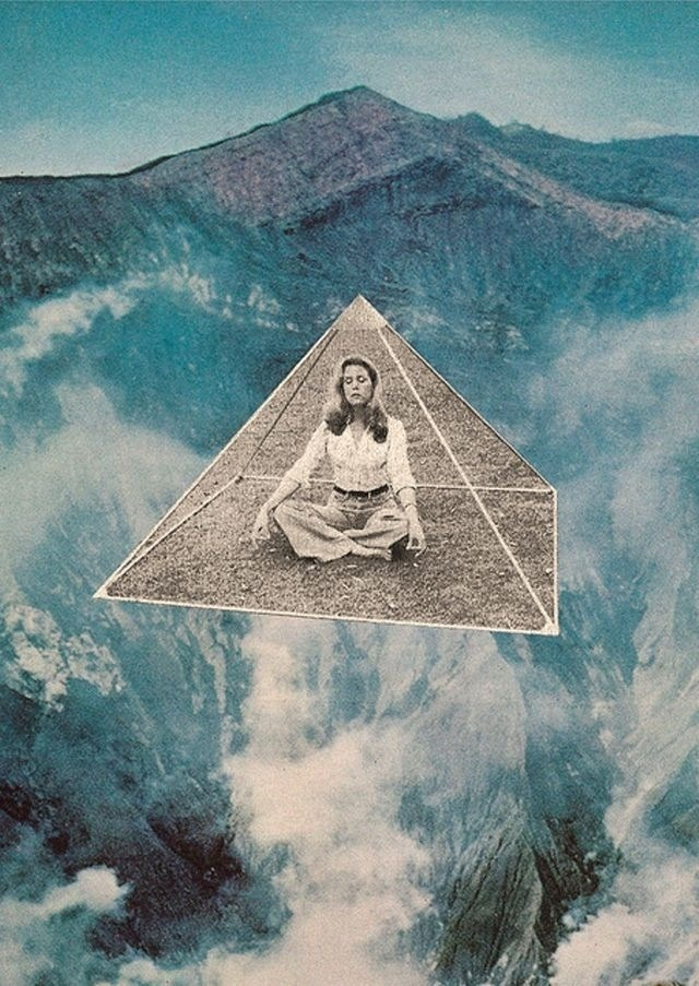meditation and mountains image