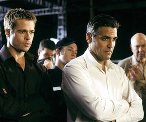 brad pitt, george clooney, and ocean's eleven image