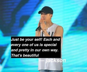 jackson, kpop, and quotes image
