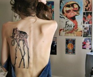 salvador dali, thinspo, and tattoo image
