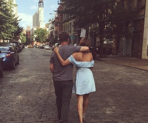 couple, love, and street image