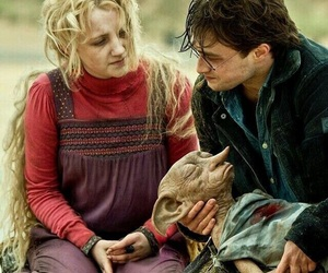 harry potter, dobby, and luna lovegood image