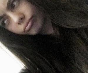 bedroom, dark hair, and eyebrows image