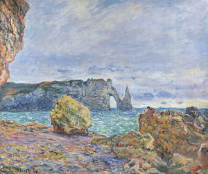 art, claude monet, and paintings image