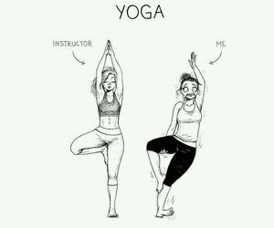 yoga, funny, and comic image