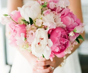 beautifull, flowers, and bride image