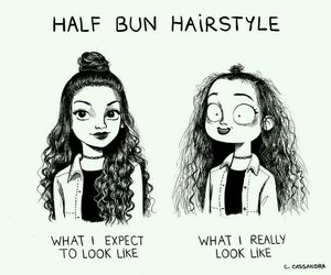 funny, hair, and hairstyle image