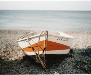 boat, sea, and beach image