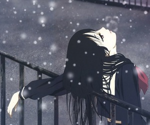 anime, snow, and manga image