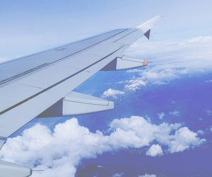 airplane, beautiful, and photography image