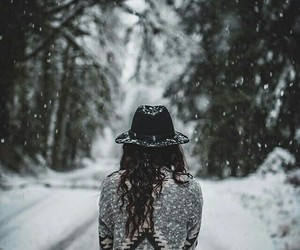 winter and girl image