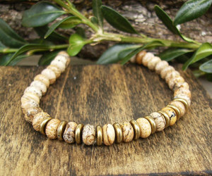beaded necklace, earthy necklace, and etsy image