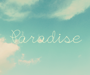paradise, sky, and clouds image