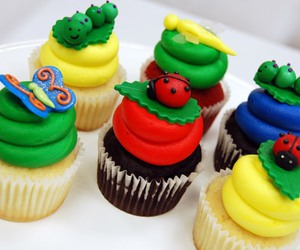 bugs, cupcakes, and cute image