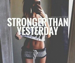 fitness, workout, and strong image