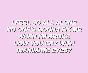 All Alone, pink, and song image