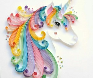 unicorn, art, and Paper image