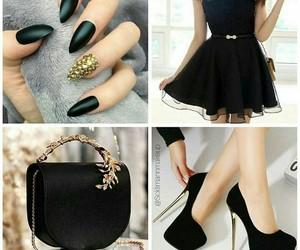 bag, shoe, and black image