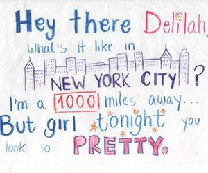 hey there delilah, song, and Lyrics image