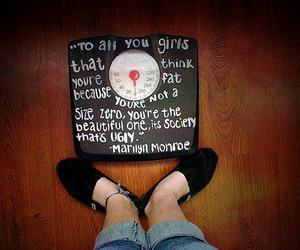 Marilyn Monroe, quote, and weight image