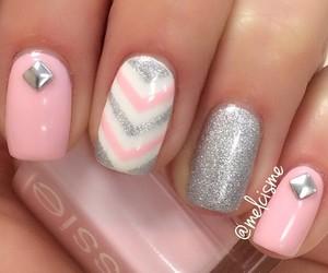 nail, nail art, and pink image