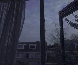 window, sky, and dark image