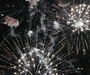 blue, theme, and fireworks image